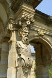 Pan sculpture of an archway at Hever Castle garden in Kent, England Royalty Free Stock Photo