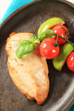 Pan seared chicken breast Royalty Free Stock Images