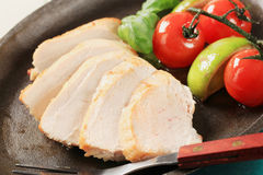 Pan seared chicken breast fillet Stock Photography
