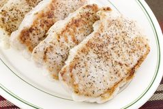 Pan Seared Pork Loin Chops Stock Image