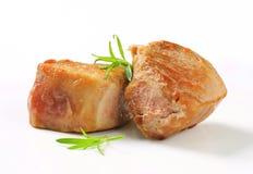 Pan-seared pork medallions Stock Image