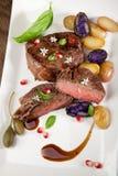 Pan Seared Steak Photographie stock libre de droits