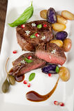 Pan Seared Steak Royalty Free Stock Photography
