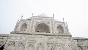 Pan shot of the Taj Mahal, Agra, Uttar Pradesh, India stock footage
