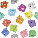 Pan smilies, seamless Royalty Free Stock Images
