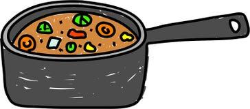 Pan of stew stock illustration
