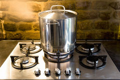 Pan On Stove Royalty Free Stock Images