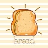 Pan tajado delicioso y fresco libre illustration