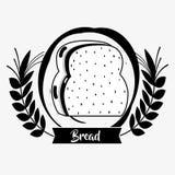 Pan tajado delicioso y fresco ilustración del vector
