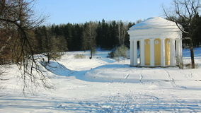 PAN of Temple of Friendship in Pavlovsk stock video