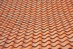 Pan tile roof background. Abstract orange textured, roof background Royalty Free Stock Images