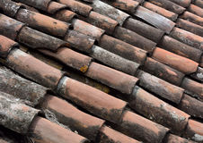 Pan tile roofing background. Pan tile roofing in old town of Granada Nicaragua Stock Photo