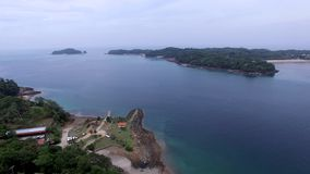 Pan and tilt over Contadora island in Panama stock footage