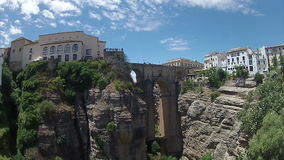 Pan Timelapse Ronda (Spain). 002 stock footage