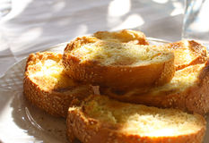 Pan tostado fresco fotografía de archivo libre de regalías
