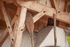 Pan tradicional de la harina de Rye cocinado en sitio durante fotografía de archivo
