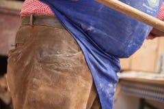 Pan tradicional de la harina de Rye cocinado en sitio durante fotografía de archivo libre de regalías