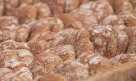Pan tradicional de la harina de Rye cocinado en sitio durante fotos de archivo libres de regalías