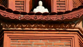 Pan Up di Tran Quoc Pagoda Temple a Hanoi Vietnam video d archivio