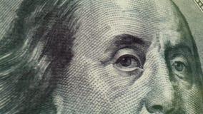 Pan van het honderd Dollar de Macroclose-up stock video