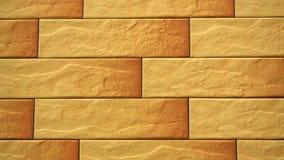 Pan van licht decoratief naadloos baksteenhuis Metselwerkachtergrond Cijferblok stock videobeelden