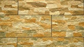 Pan van licht decoratief naadloos baksteenhuis Metselwerkachtergrond Cijferblok stock footage