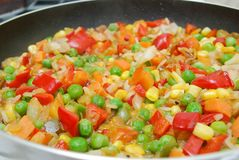 Pan with vegetable Royalty Free Stock Photos
