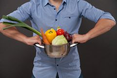 Pan with vegetables Royalty Free Stock Photography
