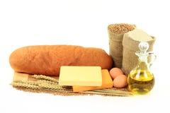 Pan viejo del queso de Cheddar. Imágenes de archivo libres de regalías