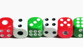 Pan view over dices,dice,die Stock Image