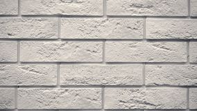 Pan white decorative brick your home. Brickwork backdrop. Unique drawing block. Clear place for your isolated text pattern. Empty space for your title copy stock footage