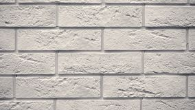 Pan white decorative brick your home. Brickwork backdrop. Unique drawing block. Clear place for your isolated text pattern. Empty space for your title copy stock video footage