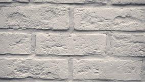 Pan witte decoratieve baksteen uw huis Metselwerkachtergrond Uniek tekeningsblok stock footage