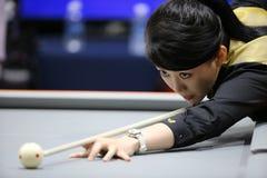 PAN Xiaoting billiard player of China Stock Photo