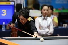 PAN Xiaoting billiard player of China Royalty Free Stock Image