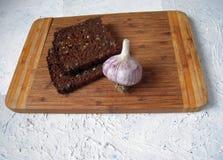 Pan y ajo Fotografía de archivo