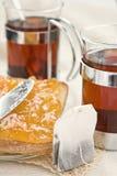 Pan y atasco del té Imagen de archivo libre de regalías