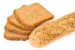Pan y baguette Imágenes de archivo libres de regalías