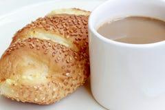 Pan y café Fotos de archivo libres de regalías