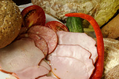 pan y carne Fotos de archivo libres de regalías