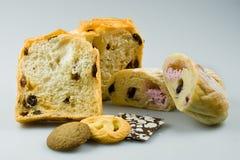 Pan y galletas Foto de archivo libre de regalías