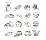 Pan y hornada Stock de ilustración