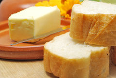 Pan y mantequilla Imagen de archivo