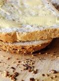 Pan y mantequilla Foto de archivo