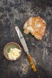 Pan y mantequilla Foto de archivo libre de regalías