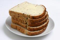 Pan y mantequilla Imagen de archivo libre de regalías