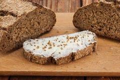 Pan y mantequilla Fotografía de archivo