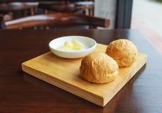 Pan y mantequilla Imagenes de archivo