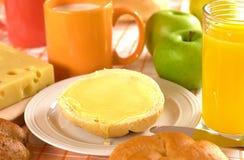 Pan y mantequilla y miel   fotos de archivo