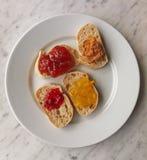 Pan y marmelade Imagen de archivo libre de regalías